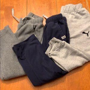 Bundle of three fleece/sweatpants